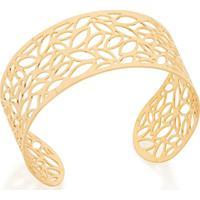 Bracelete Rommanel De Folhas - Feminino-Dourado