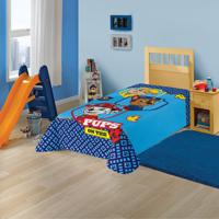 Manta Fleece Infantil Solteiro Lepper Patrulha Canina Azul
