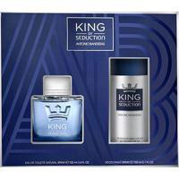 Kit Perfume Masculino King Of Seduction Antonio Banderas Eau De Toilette 100Ml + Desodorante 150Ml - Masculino-Incolor