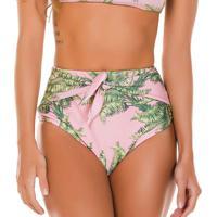 Calcinha Hot Pant Floral- Rosa Claro & Verde- Use Fluse Flee