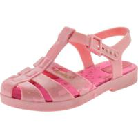 Sandália Infantil Feminina Barbie Glitz Grendene Kids - 53640 Rosa 23/24