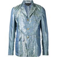 Comme Des Garçons Homme Plus Blazer Jacquard - Azul