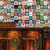Adesivo Azulejos Rótulos De Cervejas 1,80X0,60 (15X15Cm)