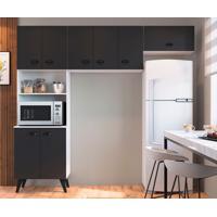 Cozinha Compacta Mia Coccina 8 Pt Preta