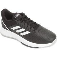 Tênis Adidas Courtsmash Masculino - Masculino-Preto+Cinza