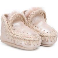 Mou Kids Leather Eskimo Boots - Rosa