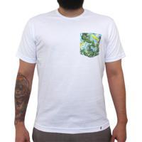 Budah, Cogumelos, Cactus, Azulejos - Camiseta Clássica Com Bolso Masculina