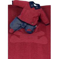 Saída De Maternidade Beth Bebê Enzo Luxo Tricô Vermelho