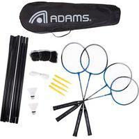 Kit De Badminton Adams Titanium 80 Contender - 4 Raquetes, 2 Petecas, 1 Rede E 1 Raqueteira