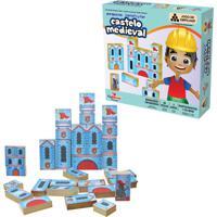 Brinquedo Educativo Pequeno Construtor Castelo Medieval Ciabrink Colorido
