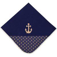 Manta Realeza Luxo Azul Marinho - Azul Marinho - Marinheiro Padroeira Baby - Azul Marinho - Menino - Dafiti