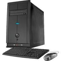 Computador Desktop Cce T232L - Intel Atom Dual Core D2500 - Ram 2Gb - Hd 320Gb - Gravador De Dvd - Linux