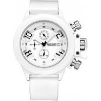 Kit 2 Relógios Megir 2002 Masculino Pulseira Silicone - Preto E Branco