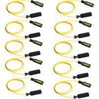 Kit Com 10 Cordas De Pular Em Aço Revestido Amarela Pretorian