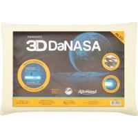 Travesseiro Allemand 3D Danasa Alto Bege