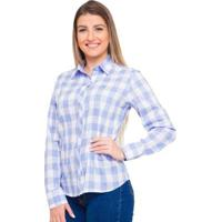 Camisa Pimenta Rosada Nice Feminino - Feminino-Branco+Azul