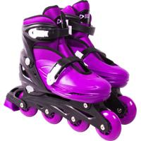 Patins Bel Sports Roller In-Line Radical Ajustável Roxo