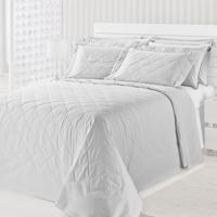 Colcha Matelasse-Royal Comfort-Casal-03 Pçs-Branco