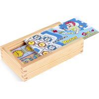 Jogo Educativo Carlu Brinquedos Domino Horas Branco