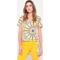 Blusa Com Recortes- Amarela & Azul Marinho- My Favormy Favorite Things
