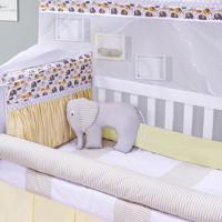 Kit Berço Padroeira Baby Elefantinho Amarelo