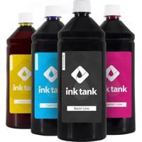 Kit 4 Tintas Para Epson L5190 Black/Preto Pigmentada E Cmy Corante Bulk Ink 1 Litro Ink Tank