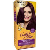 Tintura Creme Salon Line Light Color Borgonha Intenso 4.66 Kit