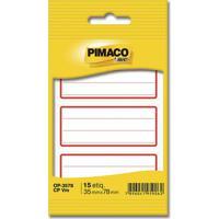 Etiqueta Adesiva Escolar Pimaco Com Pauta Vermelha 35,0X78,0Mm
