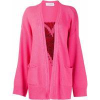 Giada Benincasa Cardigan Com Coração - Rosa