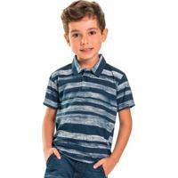 Camisa Infantil Polo Azul