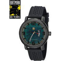 Kit De Relógio Analógico Mondaine Batman - O Filho Do Demônio Masculino + Placa Metálica - 32134Gpmgpi1 Preto