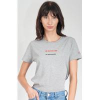 Blusa Calvin Klein Jeans Frase Cinza