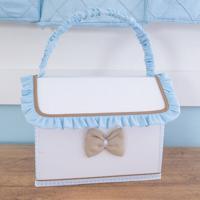 Farmacinha Urso Coroa Real - Maria Lua Baby - Branco / Azul / Caqui