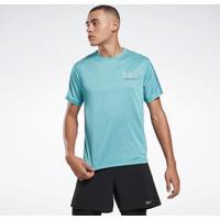 Camiseta One Series Running Reflective Move Turquesa Reebok - Masculino