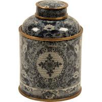 Vaso Decorativo De Porcelana Com Bronze Magrebe Ii