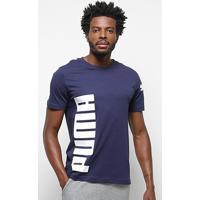 Camiseta Puma Big Logo Masculina - Masculino-Marinho