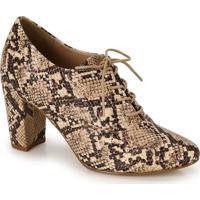 Sapato Salto Oxford Lara