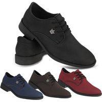 Sapato Oxford Social Casual Masculino Vermelho