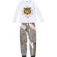 Pijama Onã§A Pintada- Branco & Preto- Kids- Pucpuc