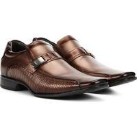 Sapato Social Couro Rafarillo Las Vegas Masculino - Masculino-Marrom