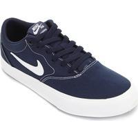 Tênis Nike Sb Charge Canvas - Unissex-Marinho+Branco