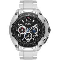 Relógio Orient Masculino Mbttc015 P2Gx Pulseira E Caixa Aço Prateado Mostrador Preto
