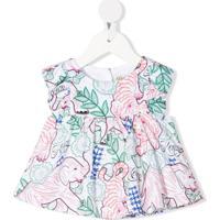 Kenzo Kids Blusa Com Estampa Gráfica De Algodão - Branco