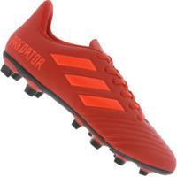 Chuteira De Campo Adidas Predator 19.4 Fxg - Adulto - Vermelho Preto b5fe420a36850