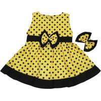 Vestido I9 Baby Nina Amarelo
