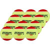 Bola De Tênis Dunlop Mini Red Estágio 3 Pack Com 12 Unidades - Unissex