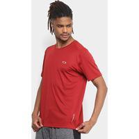 Camiseta Oakley Daily Sport Manga Curta Masculina - Masculino-Vermelho Escuro