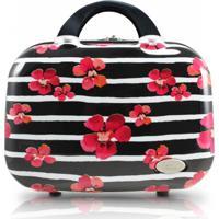 Frasqueira Floral Jacki Design Bossanova Preta - Kanui