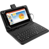 Tablet Multilaser M7S Preto Com Teclado E Capa, Quad Core Android 4.4 Kit Kat Câmera 2.0Mp Wi-Fi Tela 7 Memória 8Gb - Nb196