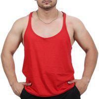 Camiseta Regata Super Cavada Academia Masculino Vermelho
